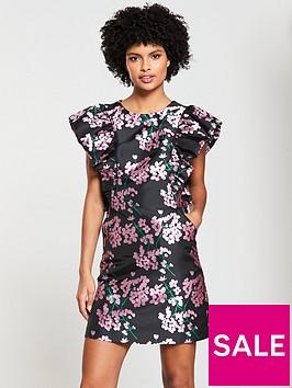 v-by-very-jacquard-a-line-dress-floral