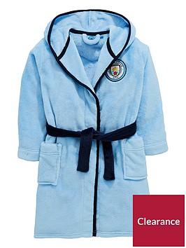 character-manchester-city-boys-football-fleece-robe-blue