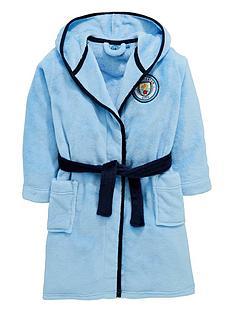 character-manchester-city-boys-football-fleece-robe