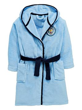 character-manchester-city-boys-football-fleece-robe