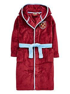 character-boys-west-ham-united-football-fleece-robe-maroon