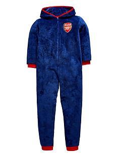 character-boys-arsenal-football-fleece-hooded-sleepsuit-navy