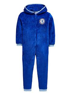 character-chelsea-football-fleece-hooded-sleepsuit