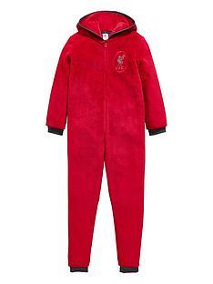 character-liverpool-football-fleece-hooded-sleepsuitnbsp--red