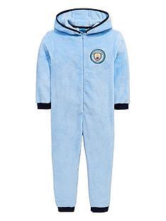 character-manchester-city-football-hooded-fleece-sleepsuit