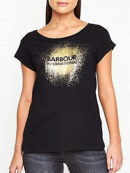 barbour-international-international-turbo-foil-logo-t-shirt-black