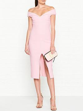 bec-bridge-cindy-off-shoulder-pencil-dress-pink