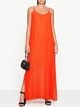 by-malene-birger-oboo-pleated-cami-dress-orange