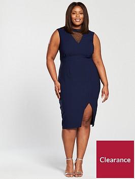 little-mistress-little-mistress-curve-embellished-v-detail-bodycon-midi-dress