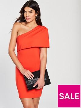 lavish-alice-one-shoulder-cape-mini-dress-orangenbsp