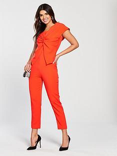 lavish-alice-one-shoulder-twisted-detail-jumpsuit-orange