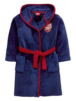 character-arsenal-fc-boys-hooded-dressing-gown-navy