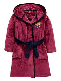 character-barcelona-fc-boys-hooded-dressing-gown-multi-coloured