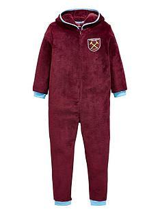 character-west-ham-football-fleece-hooded-sleepsuit