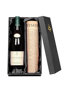 personalised-chablis-premier-cru-wine-with-newspaper-giftpack