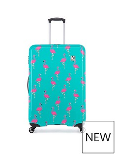 revelation-by-antler-maluku-flamingo-print-4-wheel-large-case
