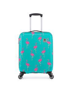 revelation-by-antler-maluku-flamingo-print-4-wheel-cabin-case