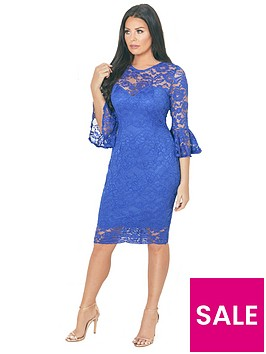 jessica-wright-luisa-lace-flute-sleeve-midi-dress