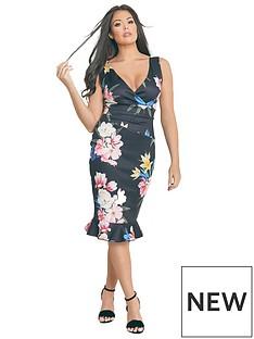 jessica-wright-jessica-wright-rosalina-floral-print-body-con-midi-dress