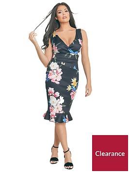 jessica-wright-rosalinanbspfloral-print-bodycon-midi-dress