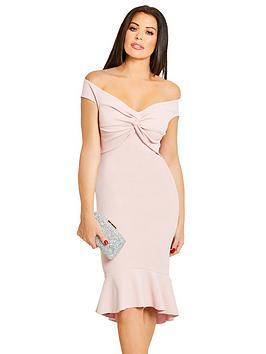 Jessica Wright Caroleana Off The Shoulder Midi Dress