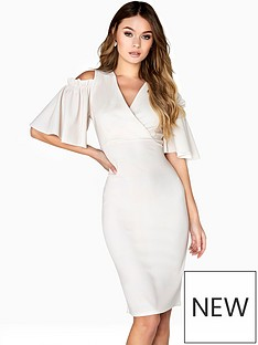 girls-on-film-cold-shoulder-v-neck-dress-with-angel-sleeves--nbspivorynbsp