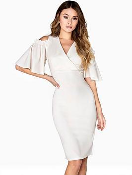 girls-on-film-cold-shoulder-v-neck-dress-with-angel-sleeves--nbspivorynbsp
