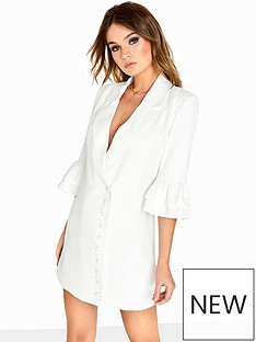 girls-on-film-fluted-sleeve-blazer-dress