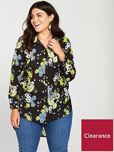 v-by-very-curve-longline-back-detail-blouse-printed
