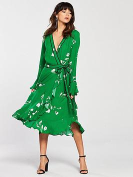 v-by-very-printed-wrap-dress-green