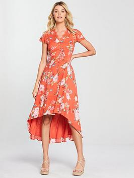 v-by-very-red-button-up-maxi-dress