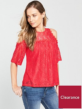 v-by-very-lace-cold-shoulder-top-coralnbsp