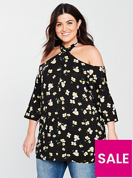 v-by-very-curve-cross-neck-cold-shoulder-top-ditsy-print