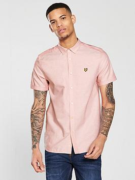 lyle-scott-lyle-amp-scott-short-sleeve-oxford-shirt