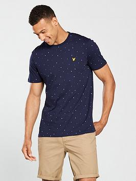 lyle-scott-lyle-amp-scott-micro-print-t-shirt