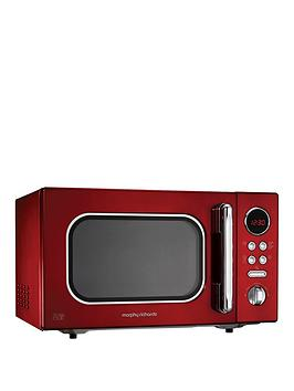 morphy-richards-accents-23-litre-800-watt-microwave-red