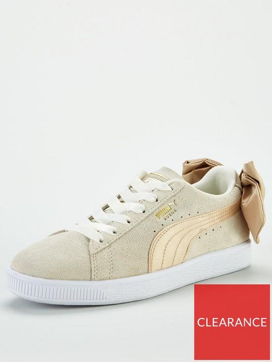 fa6f7024ad9da5 Puma Suede Bow Varsity - White Gold