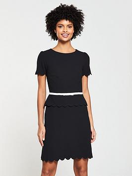 v-by-very-scallop-edge-dress--blackblush