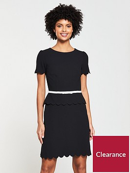 v-by-very-scallop-edge-dress--blackblush
