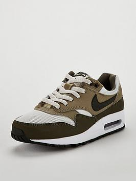 nike-air-max-1-junior-trainers-olive