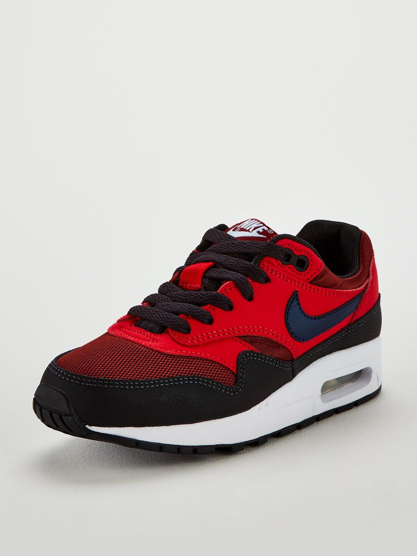 online store 158f6 f39b9 ... coupon code for nike air max 1 junior trainers redblack b4adb de586