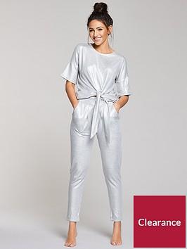 michelle-keegan-foil-print-tie-top