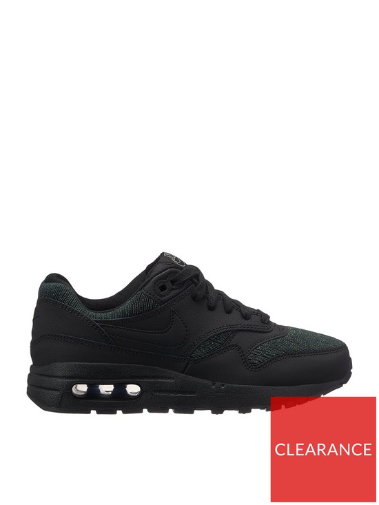 on sale 52e87 2a106 Nike Air Max 1 Special Edition Junior Trainers - Black