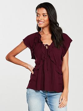 v-by-very-sleeveless-crinkle-ruffle-top-merlot