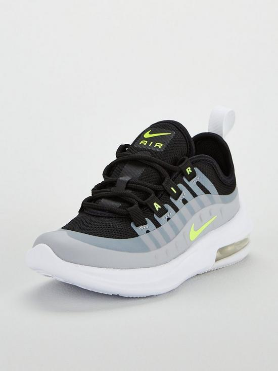 64ef9bdd28c Nike Air Max Axis Childrens Trainer - Grey Black Volt