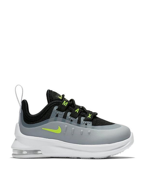 varios tipos de calzado información para Nike Air Max Axis Infant Trainer - Black/Grey/Volt | very.co.uk