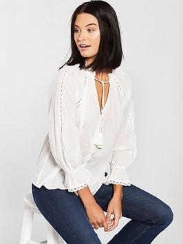 v-by-very-dobby-blouse-ivory