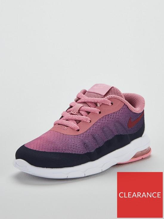 d945d9f8f79b7 Nike Air Max Invigor Print Infant Trainers - Grey Pink