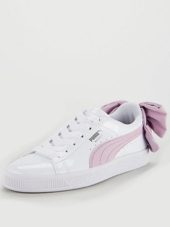 new arrival 6de28 48681 Basket Bow Patent - White/Pink