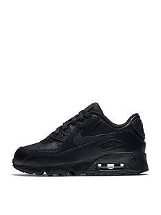 nike-childrens-air-max-90-leather-black